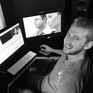Hallam Editing the film