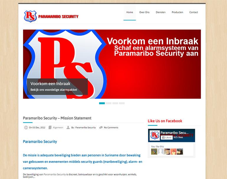 Paramaribo Security, Beveiliging