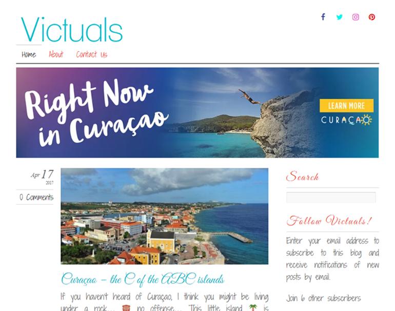 Redesign Victuals Blog